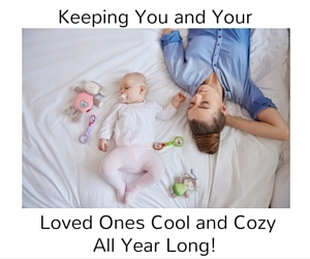 Picture about Keeping your family comfy all year with HVAC Maintenance.